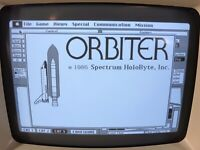 1984 Macintosh 512K ORBITER Space Shuttle Simulator RARE 2 Disks Mac Plus WORKS!