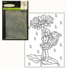 Darice DIY Crafts Supplies Embossing Folders for Card Making Cross 4.5 x 5.75 1218-49 Bundle with 1 Artsiga Crafts Small Bag