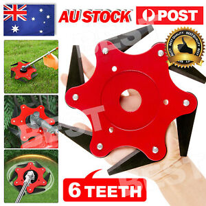 Weed Trimmer Wheel Garden LawnMower Grass Cutter Head Steel Mowe Tool 6 Teeth