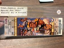 Greg Maddux Signed Ticket From Game Set Record For Most Assists By Pitcher COA