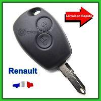 Coque Télécommande Plip Clé Pour Renault 2 Boutons Clio Twingo Kangoo+ Lame