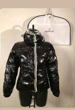 Moncler BRANSON Size 2 S/XSWoman Hood Mat BLACK Jacket Coat