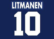 Litmanen #10 Ajax 1995-1996 Away Football Nameset for shirt