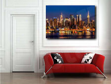 New York City Sunset Skyline Canvas Art Poster Print Wall Decor