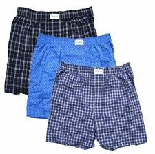 Tommy Hilfiger Men's 3-Pack Cotton Woven Boxer-Small,Blue