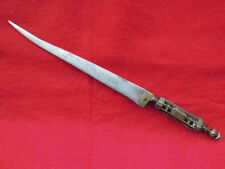 antique old vendetta knife spanish french holy relic encapsulated hilt mystery