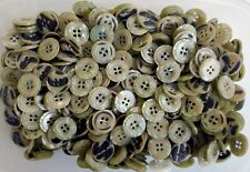 Small 11mm 18L Apple Green Pearlescent Quality 4 Hole Satin Finish Buttons Z39