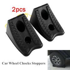 1Pair Car SUV Wheel Non-slip Chocks Block Brake Wedge Heavy Duty Handle Stoppers