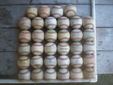 34 USED LEATHER BASEBALLS, FAIR CONDITION