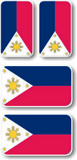 Philippines flags Vinyl sticker/decal Extra small 45mm & 35mm  - group of 4