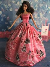 For Barbie Gown, Snowmen & Christmas Trees, For Barbie Clothes, For Barbie Dress