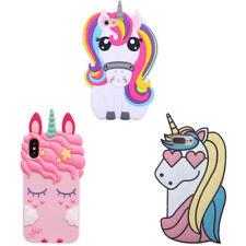 2018 New 3D Cute Cartoon Eyelash Horse Unicorn Soft Case Cover For Various Phone