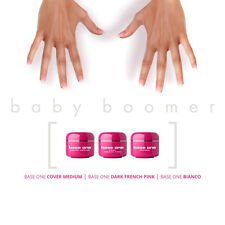 25% OFF! ACID FREE UV Gel SET Base One Baby Boomer Ombre Nails Silcare 3pc of 5g