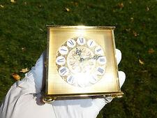EXC Vintage Imhof Bucherer Swiss 8 Day Alarm Clock Gilt Brass Case Fully Service