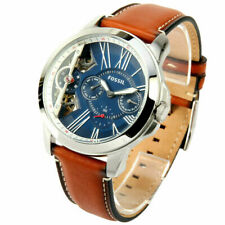Fossil ME1161 Grant Twist Three Hand Blue Dial Brown Leather WatchAutomatic