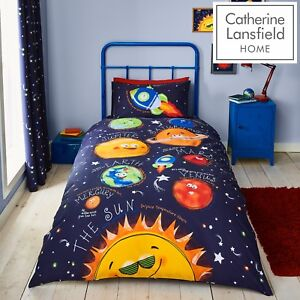 Catherine Lansfield Kids Children Happy Space Duvet Cover Bedroom Collection