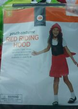 Youth Little Red Riding Hood Costume Halloween Dress Up Size Small 4-6 Child