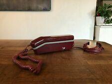 """ANCIEN TÉLÉPHONE  """" AUDIOLINE """"  couleur BORDEAUX 1991"""