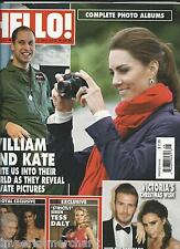 Hello magazine Kate Middleton Prince William David Victoria Beckham Tess Daly