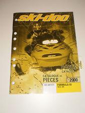 SKIDOO  PARTS CATALOG  MANUAL 2000 FORMULA lll 700 R / 800