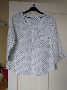 BEAUTIFUL LADIES BUTTERFLY PRINT SMOCK GRANDAD SHIRT SIZE 16 FROM FAT FACE