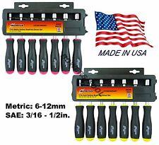 Bondhus 14pc Hollow Shaft Nutdriver Set Metric MM SAE Standard Nut Driver USA