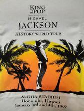 Michael Jackson 1997 Aloha Stadium HI Concert T Shirt  never worn size XL RARE!