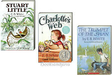 Charlotte's Web,Stuart Little & The Trumpet of the Swan by E B White 3 Paperback