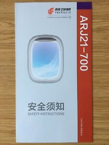 SAFETY CARD Air China - ARJ21-700 Issue: June 2020