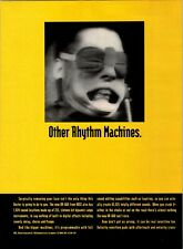 1992 VINTAGE 2 PAGE 8X11 PRINT Ad FOR BOSS DR RHYTHM DR-660 REMOVING YOUR FACE!!