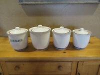 Pfaltzgraff USA JUNIPER 4 pc Canister Set with Lids Cookie LG MED SM