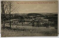 Ephrata Pa View Looking South from Point Lookout Ephrata Mountain Postcard F6