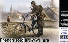 Masterbox Francés SOLDIER Militar Bicicleta Modelo Equipo de construcción 1 :3 5