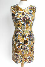 Marc Jacobs Mainline Floral sequin Linen shift dress UK 6 US 0