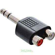 InLine® Audio Adapter 6,3mm Klinke Stecker auf 2x Cinch Buchse Stereo vernickelt