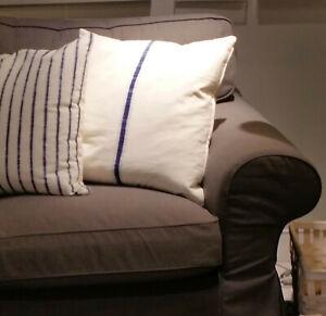IKEA Ektorp 2 Seat Sofa SLIPCOVER Loveseat Cover JONSBODA BROWN Xmas