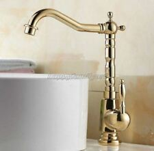 Gold Color Brass Kitchen Sink Faucet Bathroom Basin Mixer Water Tap ygf056
