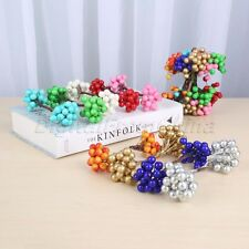 Artifical Berries 80Head DIY Crafts Fruit Wreaths Christmas Party Decoration 2x