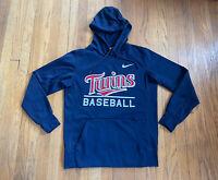 Minnesota Twins Nike On Field Baseball Hoodie Mens Medium EUC MLB