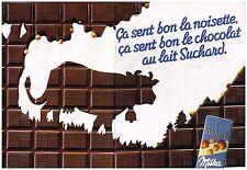 Publicité Advertising 1981 (2 pages) Le Chocolat au lait et aux Noisettes Milka