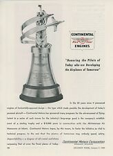 1948 Continental Aircraft Engines Ad All American Air Maneuvers Trophy Miami