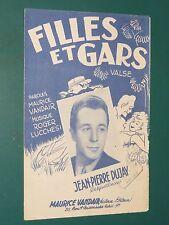 """Partition Chant """"Filles et gars"""" R. LUCCHESI M. VANDAIR J.-P. DUFAY"""