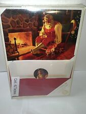 Burgoyne Spanish Christmas Cards & Envelopes, 42 count, Santa at Fireplace Elves