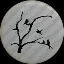 Disc Golf Custom Dye Stencil - Birds n Tree (2 Pack)