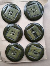STRIKING TWO-COLOUR VINTAGE PLASTIC BUTTONS shades of green