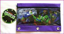 TMNT 3 Ring Pencil Pouch / PENCIL CASE  Teenage Mutant Ninja Turtles NEW 25x17cm