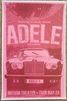 ADELE 2008 Gig POSTER Portland Oregon Concert Laurie Blue Adkins