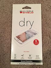 Zagg Invisible Shield Dry Screen Protector Samsung Galaxy S6 Edge NEW