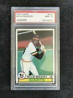 WiLLiE McCovey 1979 Topps PSA 9 Mint #215SF San Francisco Giants HOF 521 HR