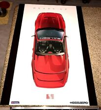 "Ford Saleen Heads Up 02 Mustang Heidelberg Poster 24""x 36"" Promotional Rare"
